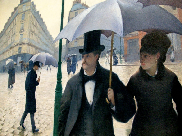 """Gustave CAILLEBOTTE """"Calle de París en un día de lluvia"""", 1877 ..."""